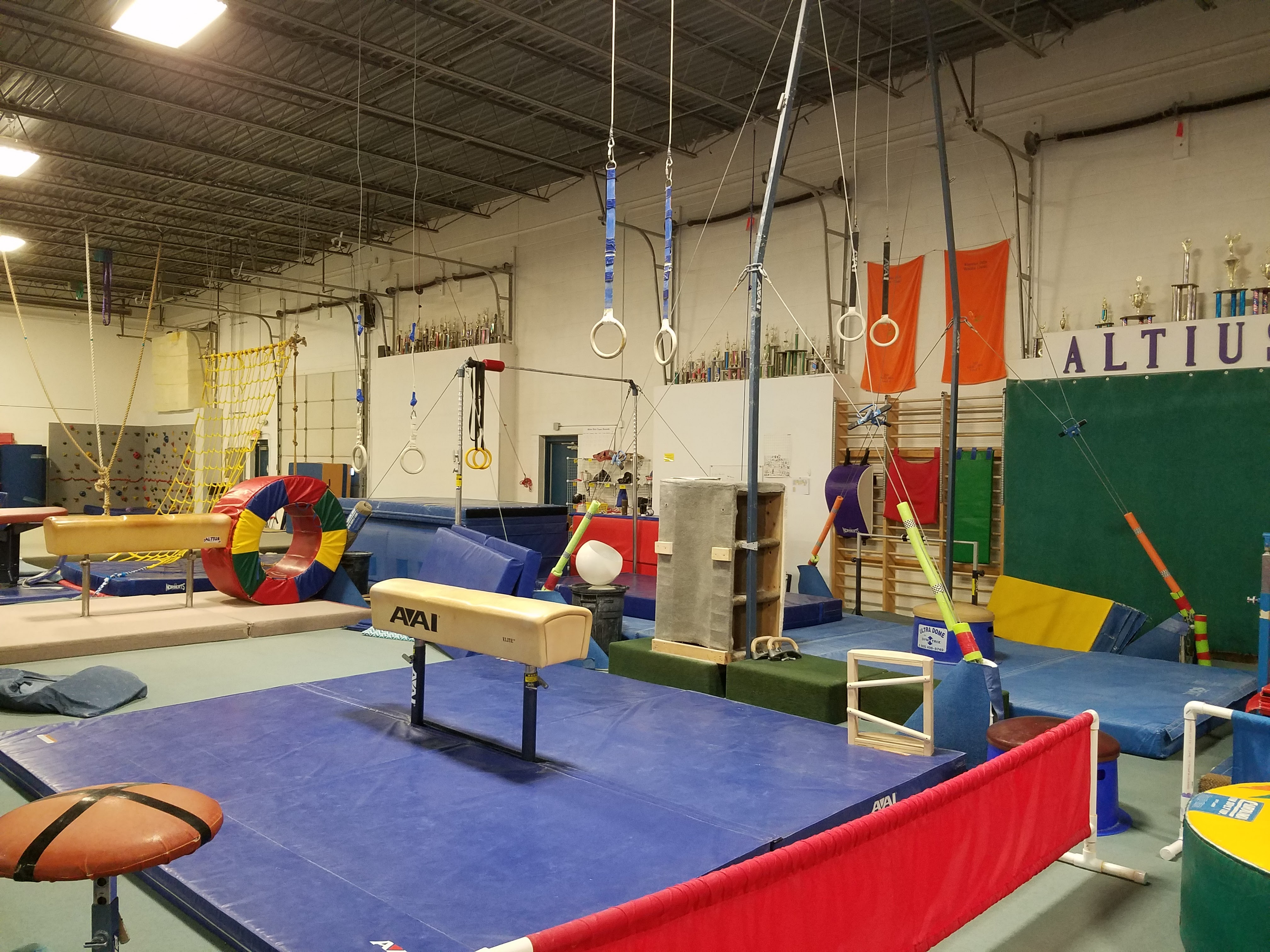 Altius is one of Wisconsin's largest gymnastics facilities, with 20,000 square feet of space and dedicated boys, Kindergym, and recreational areas.